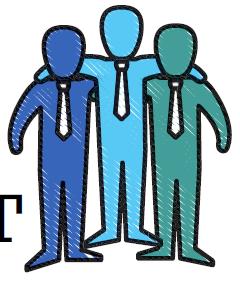 Image of three engaged employees