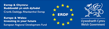 Europe and Wales ERDF logo